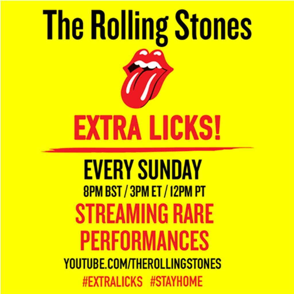 The Rolling Stones 'Extra Licks' YouTube series & new song